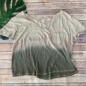 We The Free Sun Dial ombre dip dye oversize top
